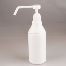 white long nozzle empty lotion pump bottle for Hospital disinfectant 300ml