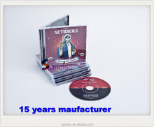 Jewel case for dvd replication and pressing printing for music publisher and movie