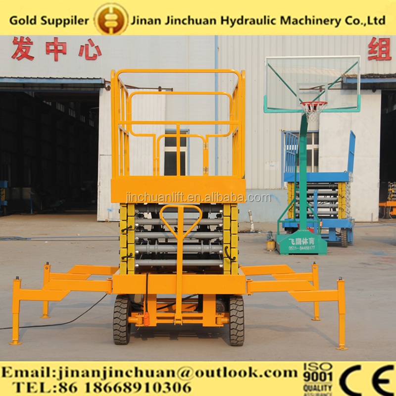 Disel and electric engine mobile scissor motorcycle lift platform/Aerial Working Platform