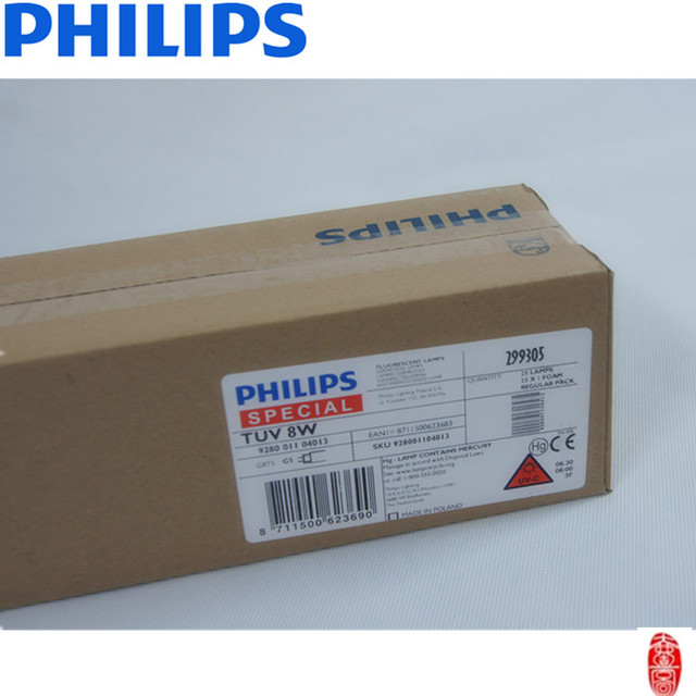 Philips uvc ultraviolet lamp TUV 8W G8 T5 254nm UVC lamps