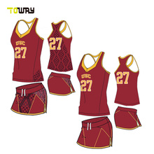 woman plus size basketball jersey dresses color red