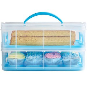 3 tier cupcake carrier plastic cupcake storge box 36pcs cupcake container