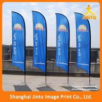 2016 Outdoor Advertising feather street flag pole flying Banner