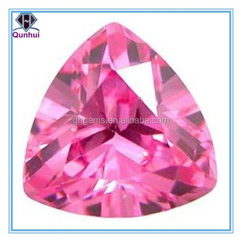 Beautiful Pink Triangle shaped Cubic Zirconia Gems stone