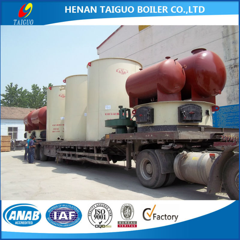 Indonesia super hot vertical coal fired thermal oil boiler hot oil boiler for plywood factory