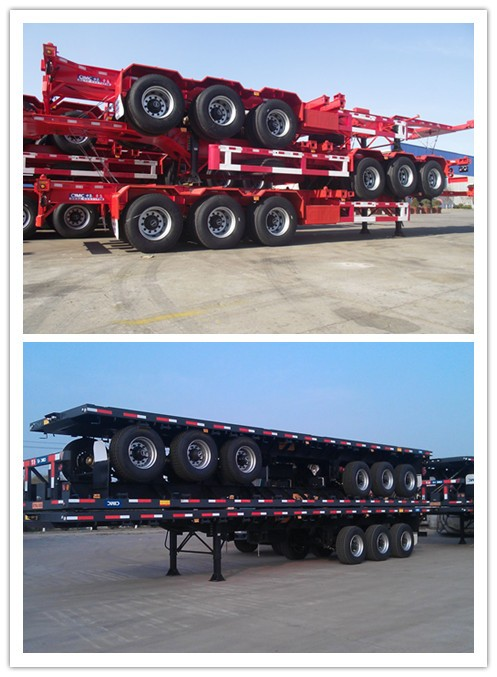 40 feet Container trailer Chassis with 3pcs fuwa axles