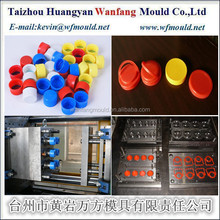 plastic flip top cap injection mould for 500ml glass bottle
