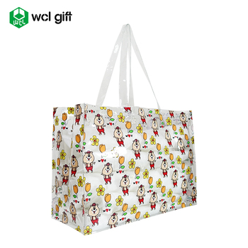 Large Customized Pattern Clear PVC Pool Tote Bag