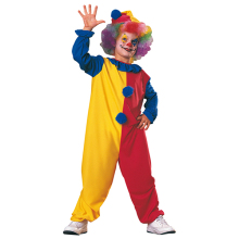 Factory hot sale clown costume for kids