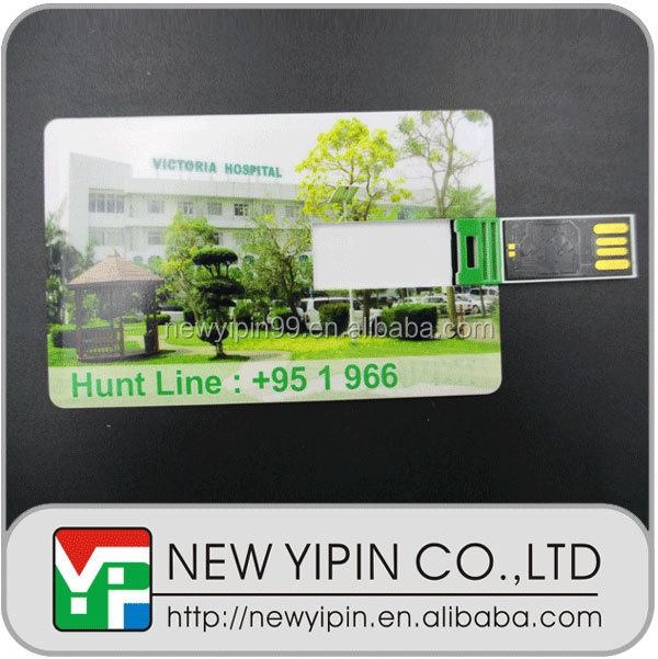 Hot sale factory direct new design bank card usb flash drive 4gb credit card usb flash drive with full colors print logo