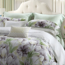 Microfiber fabric bedding set/ hotel printing wholesale bed sheet