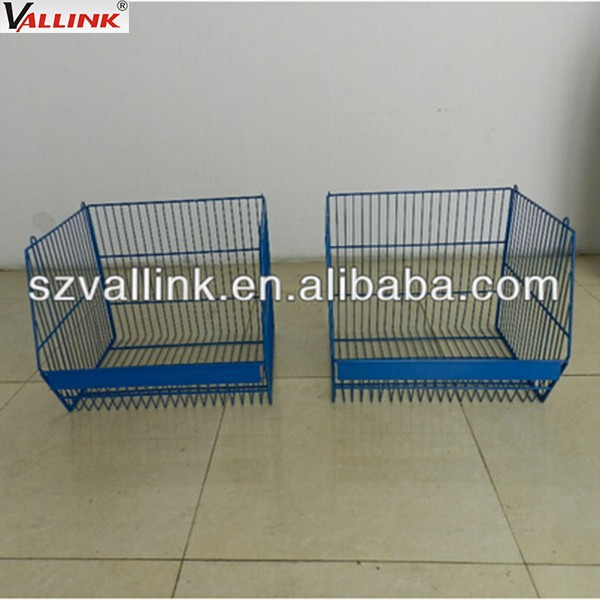 Steel powder coating hanging wire mesh storage basket