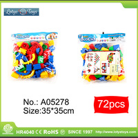 Good price different shapes educational building block ABS diy bricks toys for kids