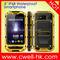 ALPS A8+ 4.0 Inch MTK6582 Quad Core CPU IP68 3G Rugged Android Smartphone with NFC function with 3000mAh Big Battery
