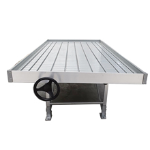 Continuous / Custom Tray 4' 6' 8' 10' 12' 4 6 8 10 12 Inch Greenhouse Rolling Bench System