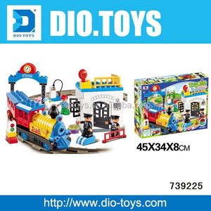 Musical building block train set for kids,train model,funny train toys