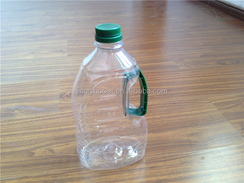 cooking vegetable oil plastic bottle for 2 L fish shape Clear color with green handle