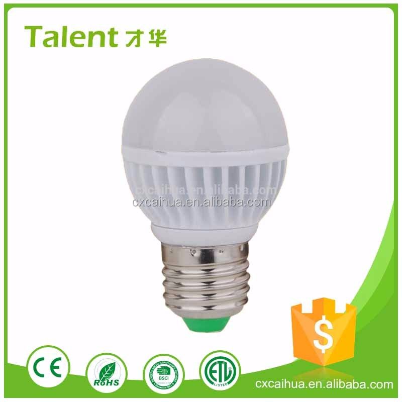 Factory Direct Sale Quality Assurance Best Price OEM Aluminum And Plastic E14 E27 B22 3W 240lm Led Light Bulb