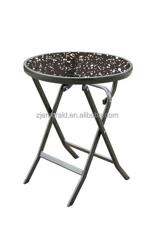 cheap aluminum foldable round bistro table
