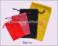 gyssien 2013 fashion custom black velvet gift bags pouch