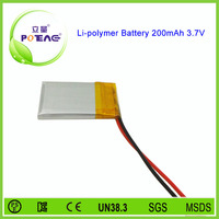 Primastic size 402030 lithium 3.7v 200mah bluetooth headset polymer battery