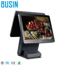 Windows system dual touch screen restaurant ordering pos system cash register machine