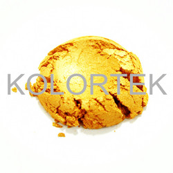 Gold pearl pigment powder for paints coatings