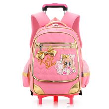 2017 Kindergarten Kids Backpack/Backpack Bag/Detachable Trolley School Bags