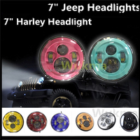 "7"" H4 LED Motorcycle Headlight Harley Headlamp Dual Beam Fit Jeep Wrangler JK TJ LJ Defender"