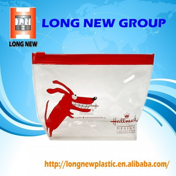 china suppliers Promotional PVC Plastic Bag with Slider