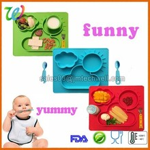 Wholesale novelty large dining table Silicone Placemat for kids