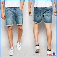 Latest fashion high quality casual stylish plain new style washed men denim jean shorts