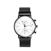 waterproof plated design your own chronograph custom logo minimalist quartz black luxury watches brand mens wrist north
