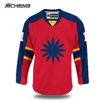 custom practice tackle twill custom silk screen high quality hockey jersey
