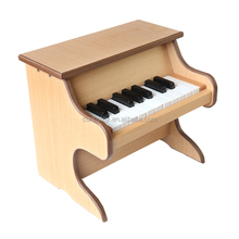 kids made of wood toys simple elegant 18 keys keyboard musical instruments crude wood color hand roll piano