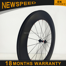 2015 NEWSPEED new style 700c bicycle OEM carbon wheelset China 88mm clincher road bike front wheel cycling