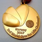 New design gold medal for gym sports