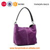 Competitive Low Price Ladies Large High-grade Flannelette Fashionable Purple Shoulder Handbag