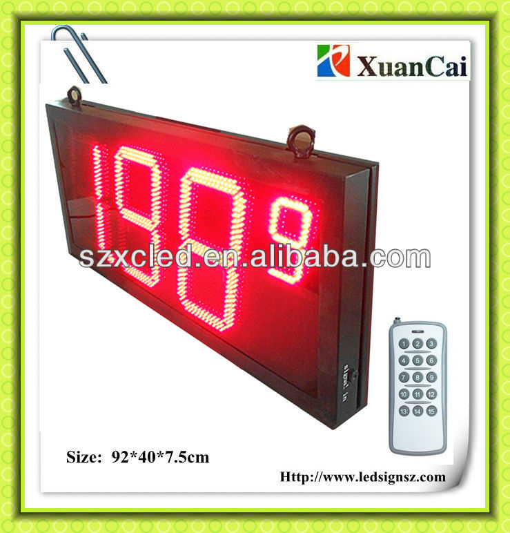 IR remote control 12 inch single face LED price signs