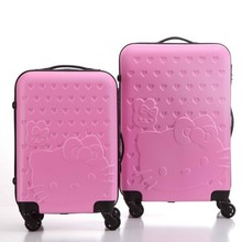 Imported abs material urban colourful travel trolley luggage bag