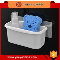 bathroom accessories wall sucked draining shampoo sponge storage basket