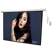 "holographic projection screen electric 84"" glass glass beaded high quality remote control sliding projector motorized screen"