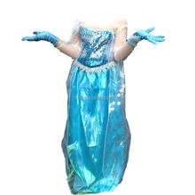 snowflake organza custom made children snow queen elsa princess dress cosplay costume for party KC-0006