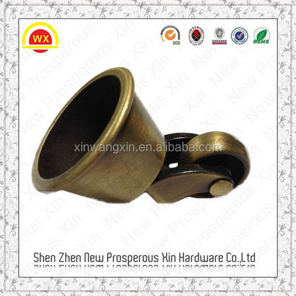 2016 Wholesale cheap brass brush piano caster cups