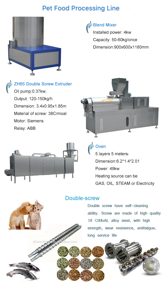 Automatic Pet Dog Food Extruder Machine Facility