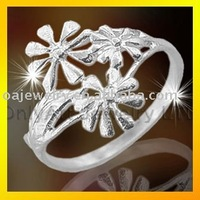 top quality flower lady plain 925silver rings fashion jewellery