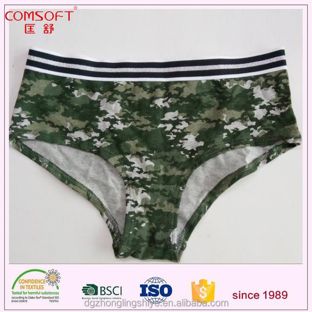 unisex teen camouflage printing cotton girls boxer shorts briefs underwear