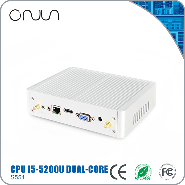 High performance new desktop computer industrial computer x86 fanless mini pc dual nic