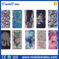 2015 New Arrival Cross Pattern Magnetic Flip Stand TPU + PU Leather Case for iPhone 6 Plus