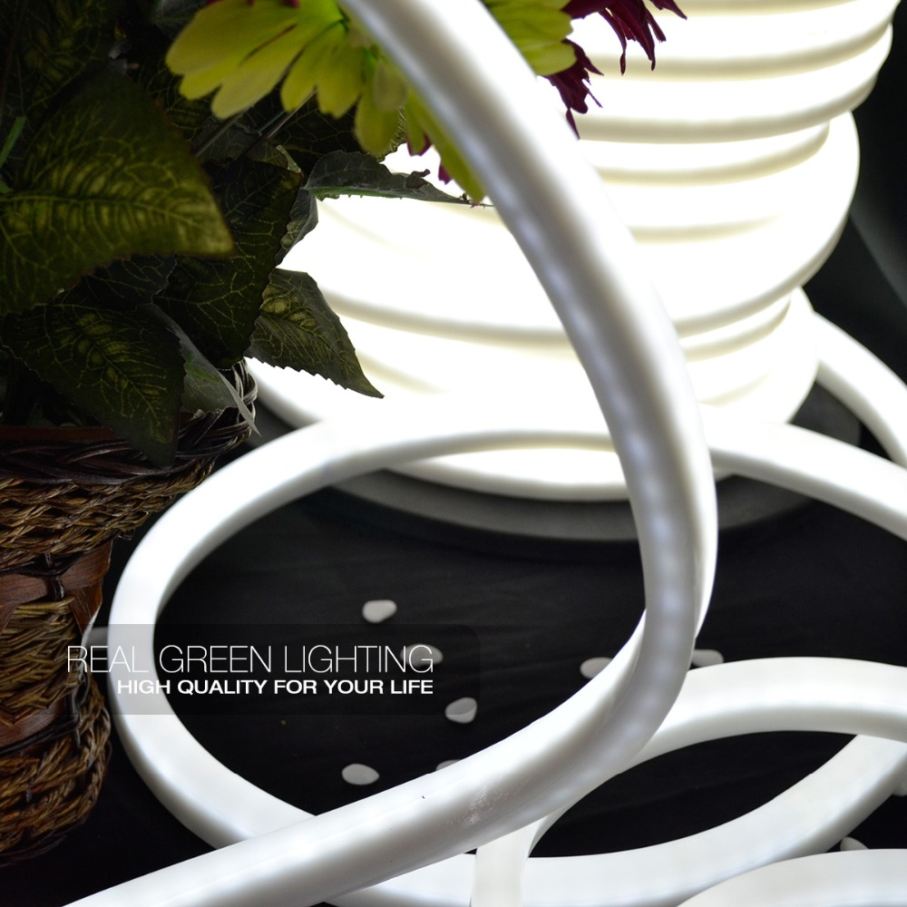 Cool White LED Neon Rope Light Ultra Brightness White Flexible Color white LED Neon Flex Rope Light